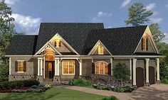 Plan W15883GE: Cottage, Craftsman, Mountain, Ranch, Corner Lot, Photo Gallery House Plans & Home Designs