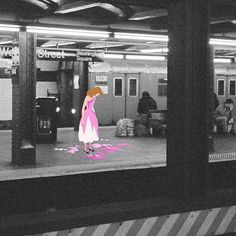 Urban Disney Collages : superimposed disney art