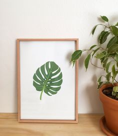 Print yours at home! | Downloadable | Leaf Print | Fable Lifestyle & Baby