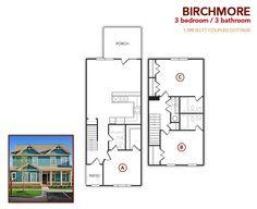 3 bedroom, 3 bath Birchmore