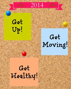 Get Up! Get Moving! Get Healthy! free printable | Cottage at the Crossroads