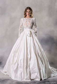 Wedding Styles anna georgina 2019 couture long sleeves bateau heavily embellished bodice elegant princess ball gown a line wedding dress with pockets backless v back chapel train mv -- Anna Georgina 2019 Couture Wedding Dresses Wedding Dress Styles, Wedding Attire, Ball Dresses, Bridal Dresses, Wedding Dress With Pockets, Princess Ball Gowns, Beautiful Gowns, Marie, Lace Dress