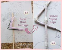 {Legs For Gumpaste/Fondant Flamingo}