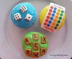 Game Cupcakes ~ No recipe, but some really cute decorating ideas for whatever flavor cupcake you may choose.