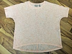 Chicos Womens Size 1 Medium Peach Sheer & Soft Stretch Knit Blouse Top #Chicos #KnitTop #EveningOccasion