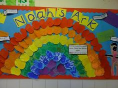Noahs Ark Rainbow Display, classroom display, class display, Religion, two by two, Story, animal, bible, Early Years (EYFS), KS1 & KS2 Primary Resources