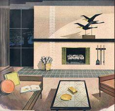 Mid-century living room elegance. #vintage #home #decor