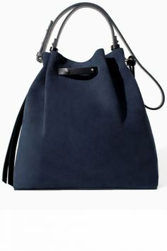 Zara Leather And Suede Bucket Bag, £79.99 | Look