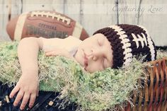 Football Hat Newborn Toddler Child Sizes Baby Boy or by lilaleigha, $14.00