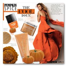 """Pumpkin Spice Beauty"" by anitadz ❤ liked on Polyvore featuring beauty, Butter London, Peter Thomas Roth and Kate Somerville"