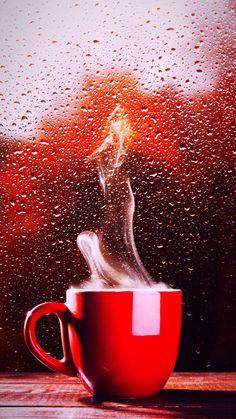 Coffee Cup Art, Coffee Gif, Coffee Break, Coffee Music, Rain And Coffee, I Love Coffee, Coffee Shop, Wallpaper Iphone Cute, Wallpaper Backgrounds
