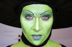 Wicked witch makeup - like the shadowing