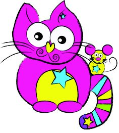 """""""Hello! Leaf the Cat Mermaid with Mousey""""  This Rediscoveree was created by Viki, Aged 22"""