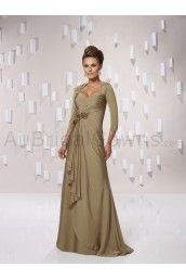 Chiffon Ruched Queen Anne Neckline Floor-length Special Occasions Dress