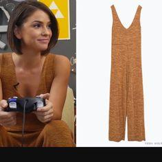 SALE! Zara Mustard Knit Jumpsuit Like new condition. Zara Pants Jumpsuits & Rompers
