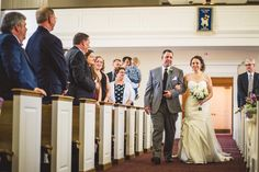 Church wedding photo must have as the bride walks down the aisle | Bustld.com | @robpluskristen