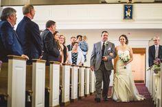 Church wedding photo must have as the bride walks down the aisle | Bustld.com | @robpluskristen