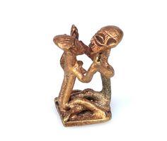 Erotic Brass Gold Weight Replica #1441 | Goldweight Figures | Metal — Deco Art Africa - Decorative African Art - Ethnic Tribal Art - Art Dec...