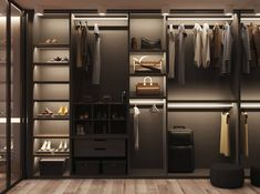 Visualization of apartment on Behance Glass Wardrobe, Wardrobe Door Designs, Wardrobe Room, Wardrobe Design Bedroom, Closet Designs, Closet Bedroom, Dressing Room Closet, Dressing Room Design, Bedroom Cupboard Designs