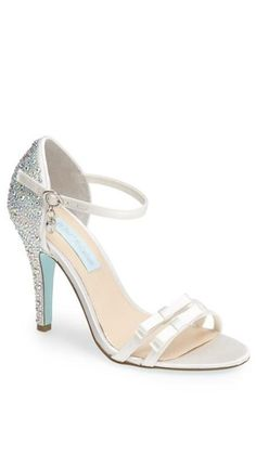 Betsey Johnson 'Bow' sandal with crystal heel