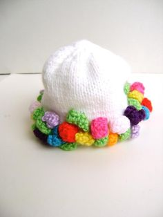 Garden Party..It is knit but easily done in crochet..bobbles at bottom are crochet..Sweet for spring!!