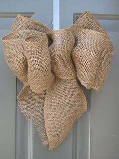 burlap bow ribbon rustic country wedding by TheRusticRaven on Etsy, $15.00