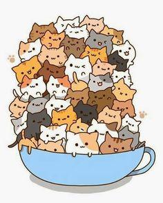 cup full of kitties