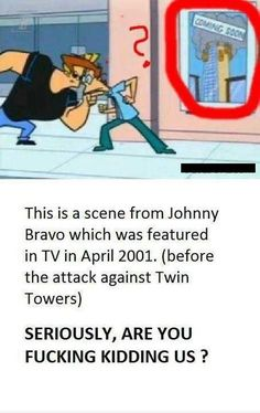 Normally I would not post anything with the F-Bomb in it but this Johnny bravo episode is just way too crazy to ignore.