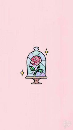Wallpaper rose rosa - Nachtliebe - Beauty & the Beast - Wallpaper Cute Wallpaper Backgrounds, Wallpaper Iphone Cute, Aesthetic Iphone Wallpaper, Aesthetic Wallpapers, Beauty And The Beast Wallpaper Iphone, Wallpaper Wallpapers, Cute Tumblr Wallpaper, Unique Wallpaper, Kawaii Wallpaper