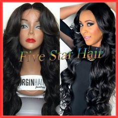 Find More Wigs Information about Middle Part body wave lace front Virgin Human Hair wigs & natural full lace wig 100% Unprocessed Brazilian Virgin Hair,High Quality hair lace front wigs,China wig short hair Suppliers, Cheap hair integration wigs from Five star human hair products store  on Aliexpress.com