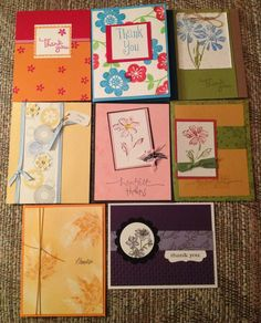 Thank you card variety set (8) on Etsy, $16.00