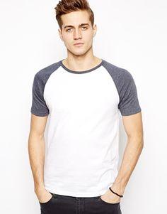 ASOS T-Shirt With Contrast Raglan Sleeves