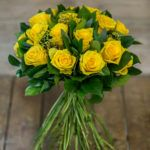 Χειροποίητο μπουκέτο από Penny Lane Roses & Eucalyptus