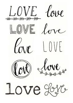 P Alphabet In Love Different ways to write love: creative hand lettering LOVE it! ;) More