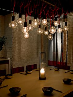 Spice Temple Sydney - Incredible red-cord lights