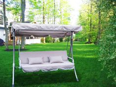 New Outdoor Swing Canopy Replacement Porch Top Cover Seat Patio - Best Selling Swing Sets Patio Swing Set, Cozy Patio, Swing Top, Swing Cover, Swing Canopy Replacement, Canopy Swing, Swing Seat, Gazebo Pergola, Outdoor Rocking Chairs