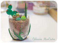 succulents cactus decorative polymer clay in por MOMENToCOMPLEMENTo