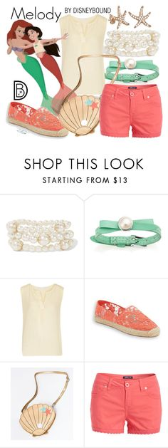 """""""Melody"""" by leslieakay ❤ liked on Polyvore featuring Kenneth Jay Lane, Kain, Jos, Rebecca Minkoff, Wallflower, Allurez, disney, disneybound and disneycharacter"""