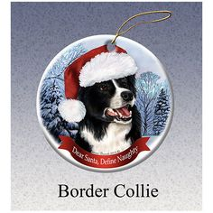 Border Collie Howliday Dog Christmas Ornament