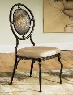 Basil Antique Brown Dining Side Chair | Powell | Home Gallery Stores