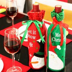 Sequins Wine Bottle Covers Bag Christmas Decoration For Home Party Decors Christmas Gifts adornos navidad 2016 #>=#>=#>=#>=#> Click on the pin to check out discount price, color, size, shipping, etc. Save and like it!