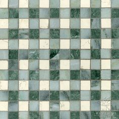 Bonnie stone mosaic in Bianco Antico, Kay's Green and Wujan Jade | Plaids and Ginghams Collection | New Ravenna