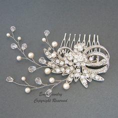 Wedding Hair Accessories Vintage Bridal Hair by adriajewelry