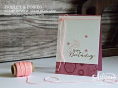 Stampin' Up! UK Paisley & Posies - Shop Stampin' Up! HERE!