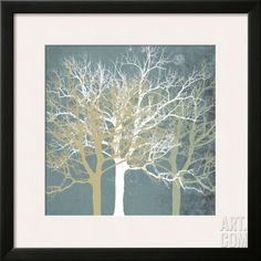 Tranquil Trees Framed Art Print by Erin Clark at Art.com