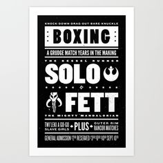 Buy Solo vs Fett by KOMBOH as a high quality Art Print. Worldwide shipping available at Society6.com. Just one of millions of products available.