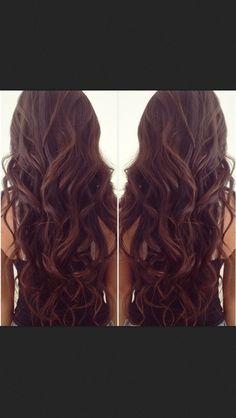 Long brown curls