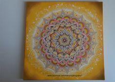 Mandala Pintura acrílica sobre tela 30x30cm