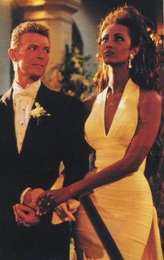 David Bowie and Iman...pretty people being in love. Just not fair really, is it?