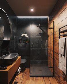 Loft Bathroom, Dream Bathrooms, Small Bathroom, Master Bathroom, Wooden Bathroom, Coolest Bathrooms, Industrial Bathroom, Bathroom Faucets, Rain Shower Bathroom